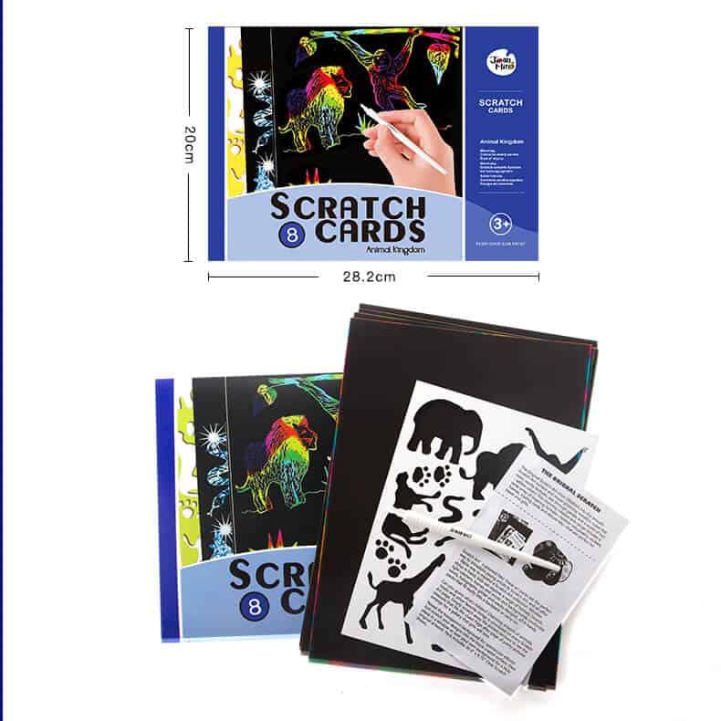 Scratch art set -Animal Kingdom ชุด Scratch Art อาณาจักรสัตว์