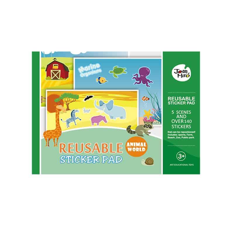 Reusable Sticker Pad - Animal World สติ๊กเกอร์ Pad ชุดโลกของสัตว์