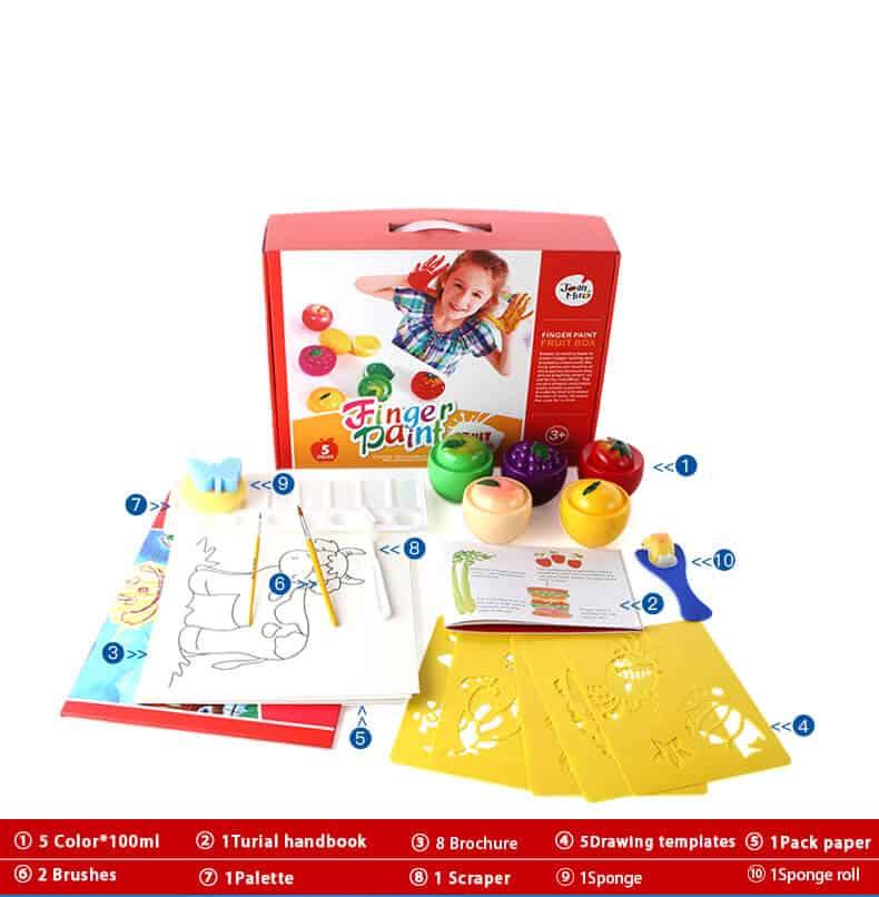 Joan Miro Fruit Box ชุดสีพร้อมอุปกรณ์พิมพ์ภาพ