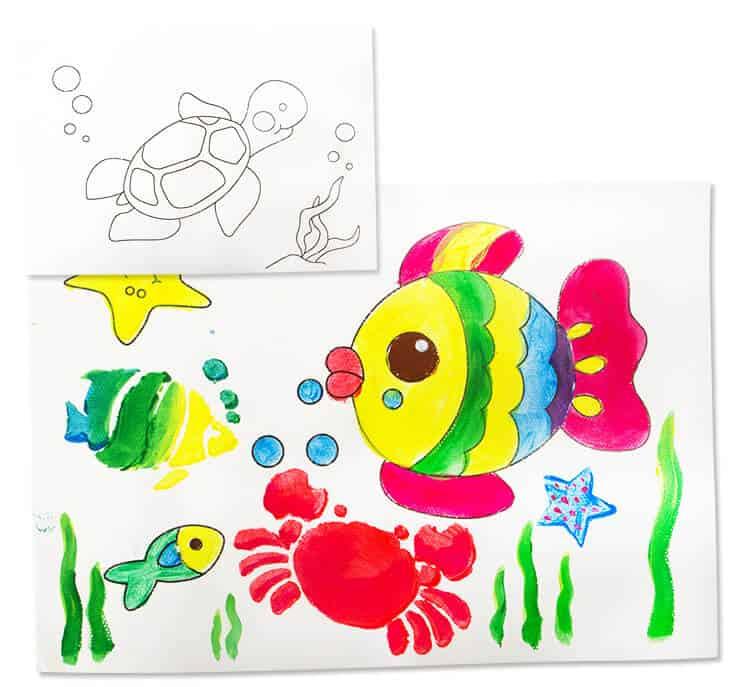 Joan Miro Finger Paint Paper กระดาษวาดภาพสำหรับสีทามือ
