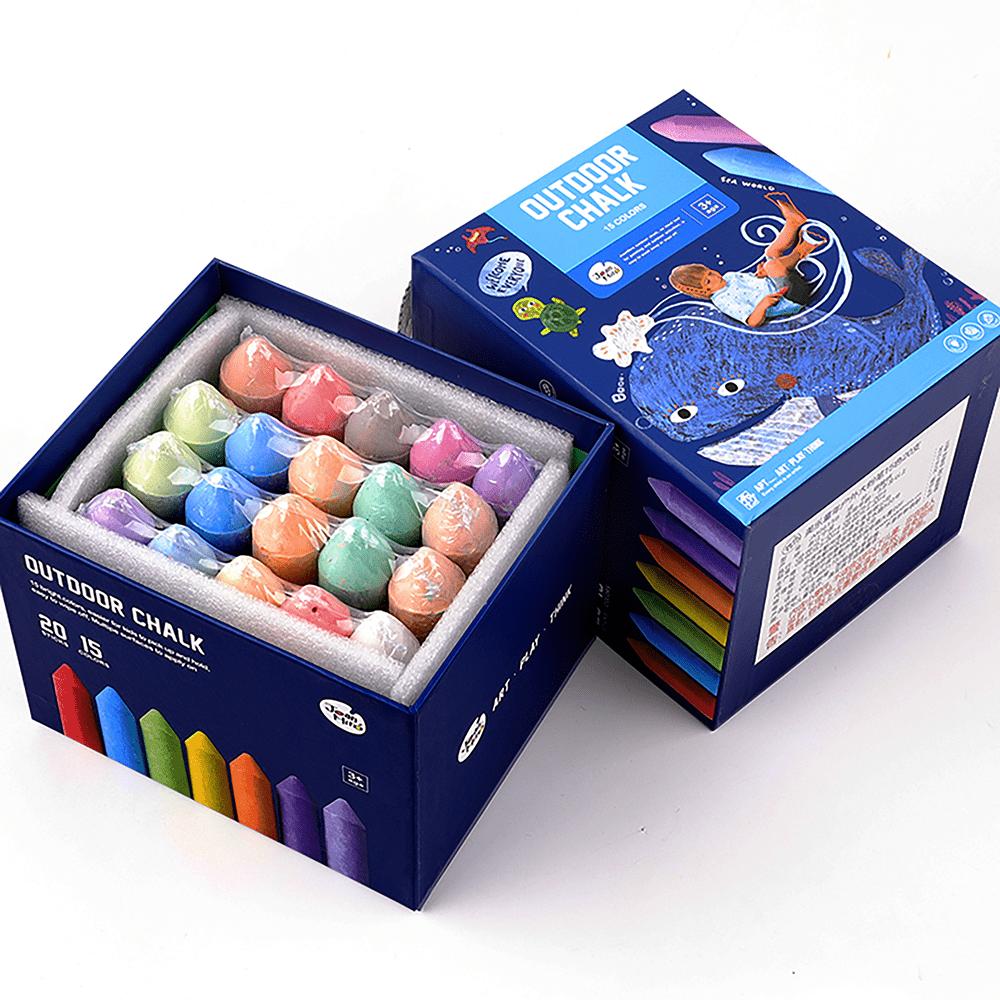 ดินสอสีชอล์กแท่งใหญ่ ไร้ฝุ่น (Outdoor Chalk)