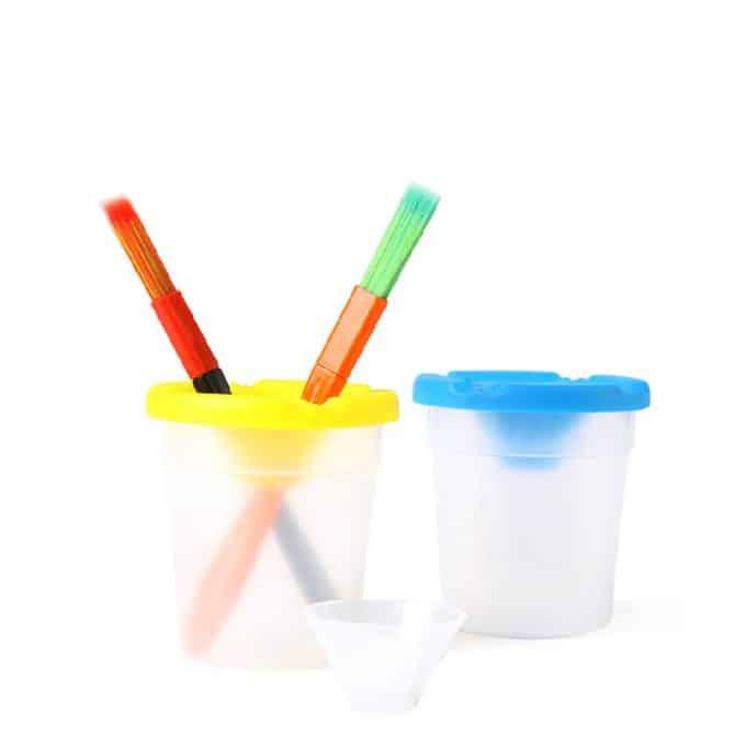 Plastic cup for brush washing ถ้วยพลาสติกสำหรับล้างแปรง