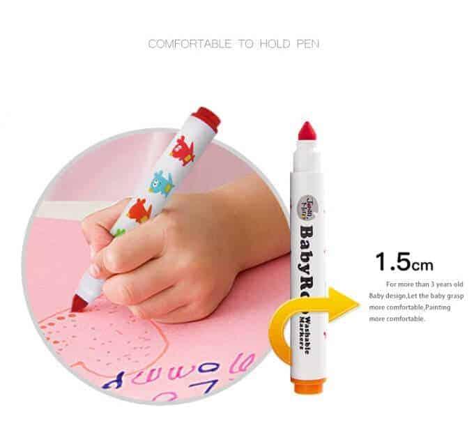 Baby Roo Washable Markers Set(12 Colors) ปากกามาร์คเกอร์ไร้สารพิษ 12 สี