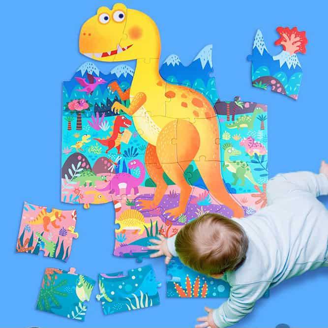 Joan Miro Large jigsaw puzzle-dinosaur playground ชุดจิ๊กซอว์ยักษ์ ภาพไดโนเสาร์