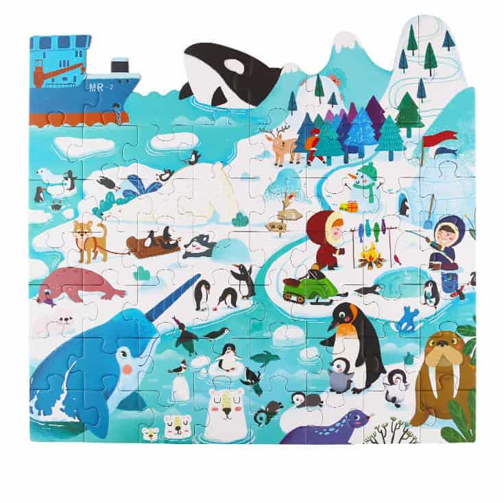 Puzzle-Ice island จิ๊กซอว์ลายรูปเพนกวิ้น