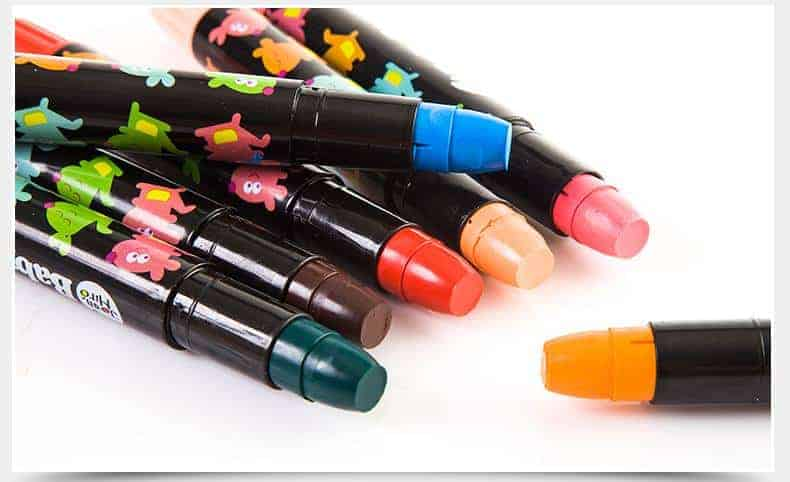 BABY ROO Rotating Silky Crayons-24 Colors สีเทียนเนื้อ Silky ปลอดสารพิษ 24 สี