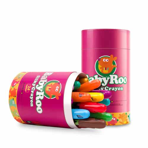 BABY ROO Rotating Silky Crayons-12 Colors สีเทียนเนื้อ Silky ปลอดสารพิษ12 สี
