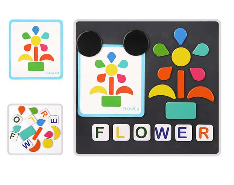 Magnet Play Box Shapes and Alphabets