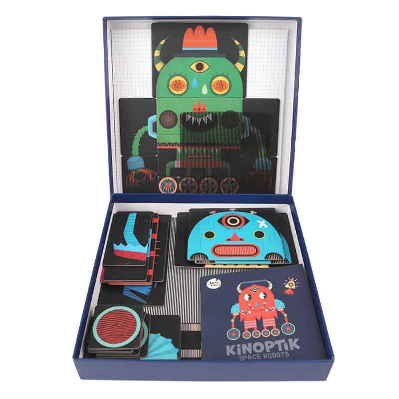 Kinoptic Magnet Puzzle Box จิ๊กซอหุ่นยนต์เคลื่อนไหวได้ ของเล่นเด็กเชิงวิทยาศาสตร์