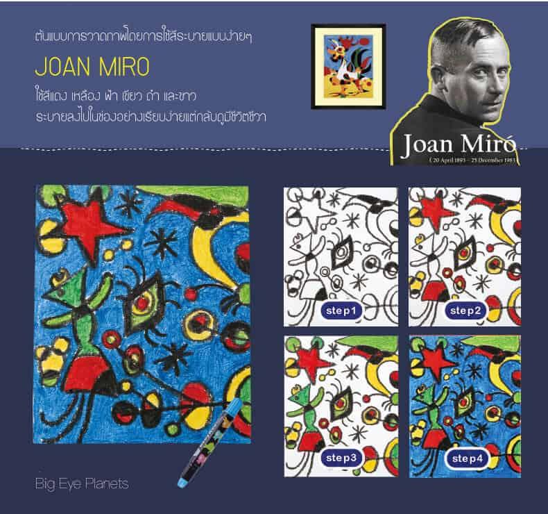 Joan Miro Great Oil Painter เซ็ตวาดภาพด้วยสีน้ำมัน ของเล่นเสริมพัฒนาการ เสริมทักษะศิลปะปฐมวัยสำหรับเด็ก