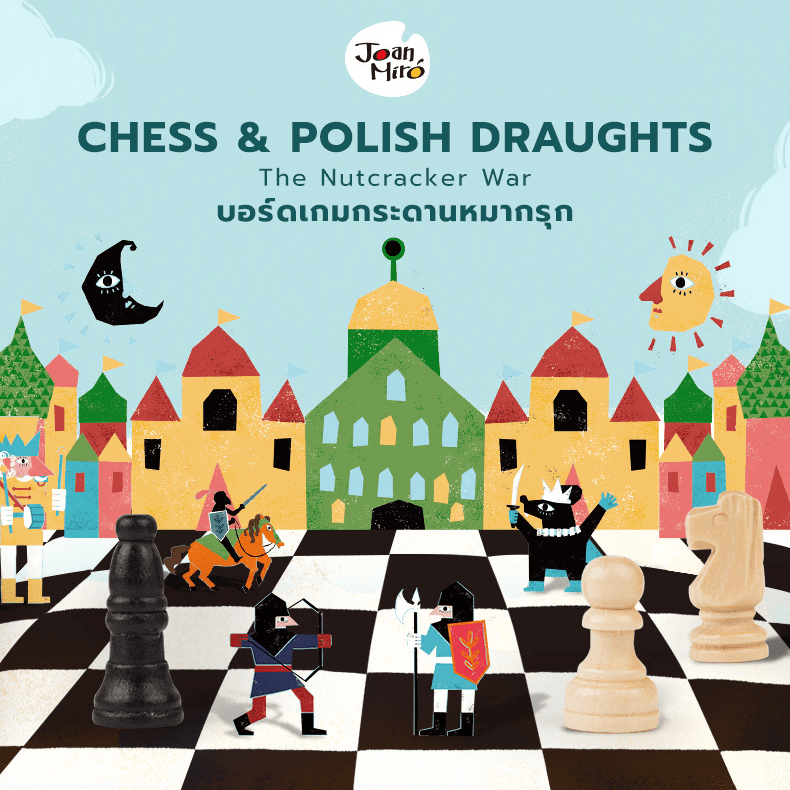 Chess & Polish Draughts 2 in 1 Set - The Nutcracker War