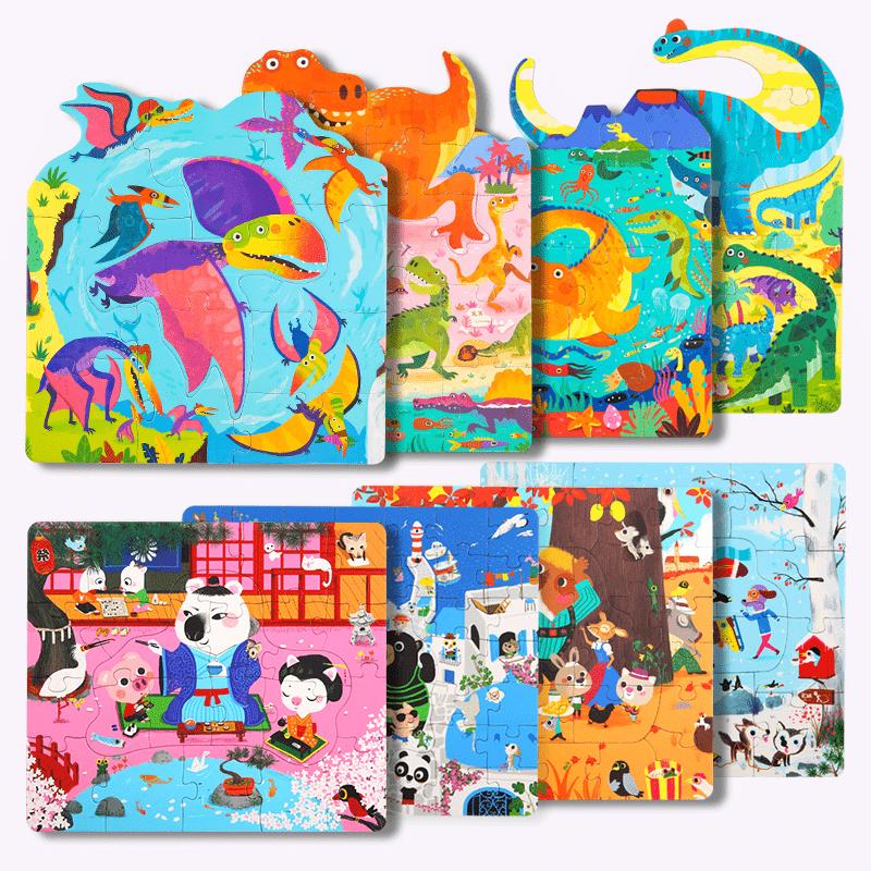 4 in 1 puzzle dinosaur