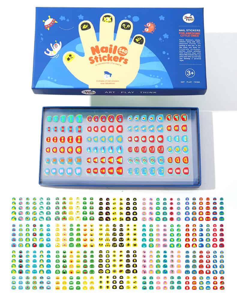 ชุดสติ๊กเกอร์ติดเล็บสำหรับเด็ก-Nail Stickers