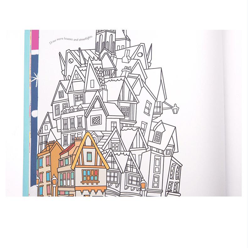 Doodling for boys and girlหนังสือสอนวาดภาพ(เด็กผู้ชายและผู้หญิง)