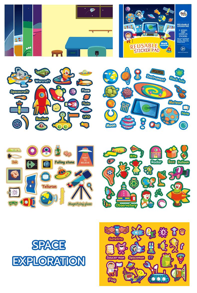 สติ๊กเกอร์ลอกออกใช้ซ้ำ -Reusable Sticker Pad