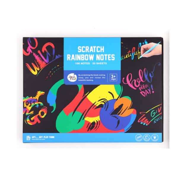 scratch rainbow note