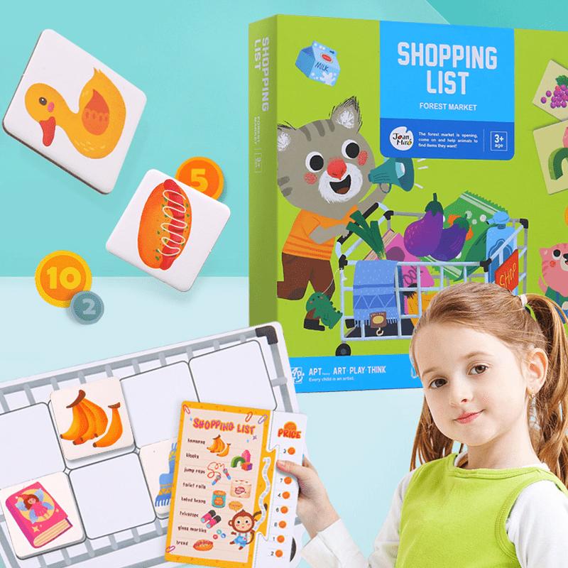 ชุดเกมส์ช็อปปิ้งซุปเปอร์มาร์เก็ต -Shopping List- Forest Market