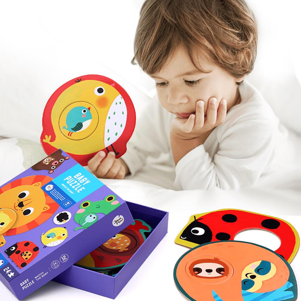 จิ๊กซอว์ต่อแบบง่ายสําหรับเด็กเล็กBaby Puzzle - Match the baby