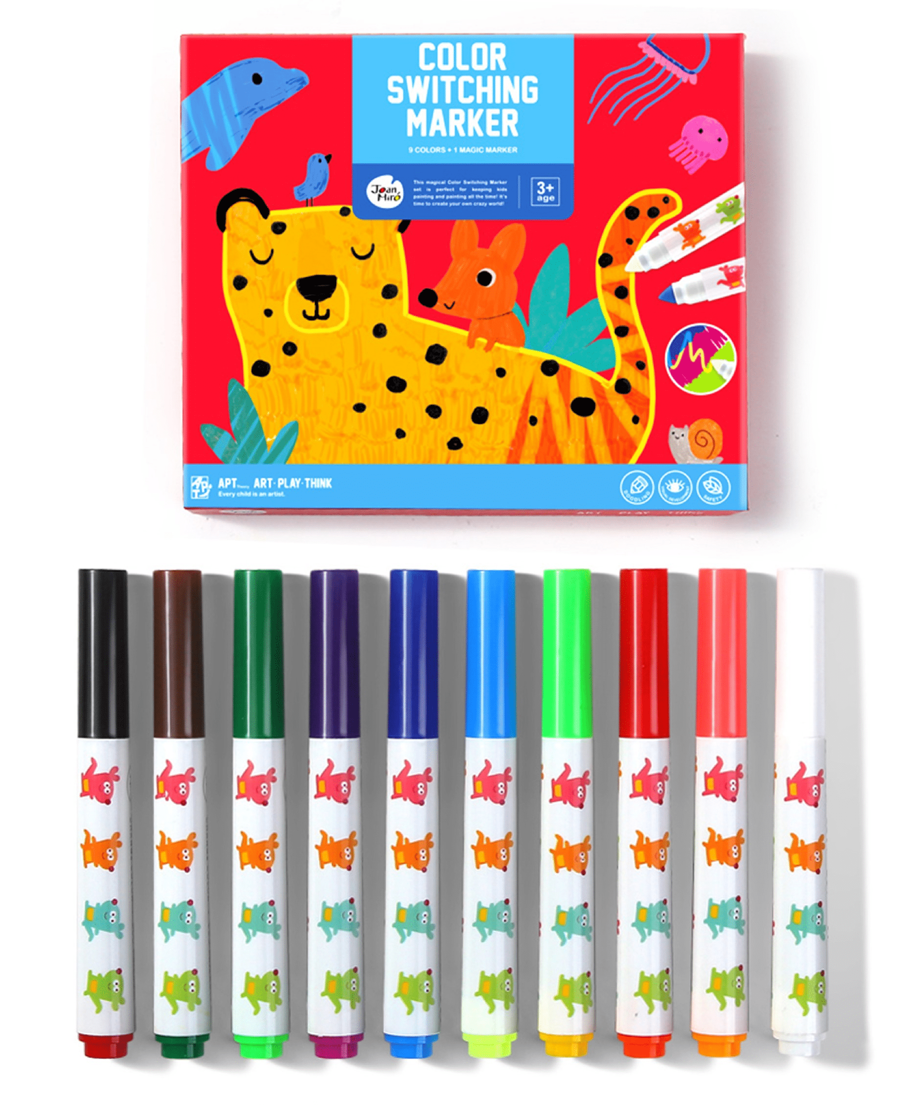 ปากกามาร์คเกอร์เปลี่ยนสีได้แสนมหัศจรรย์ Joan Miro Color Switching Markers